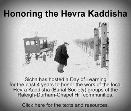 Hevre Kaddisha - honoring the work