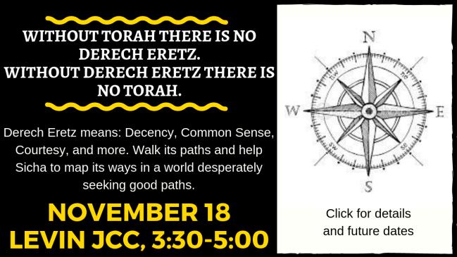 Derech Eretz 11.18.18